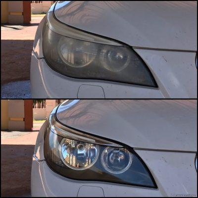 رفع کدر شدن طلق چراغ خودرو