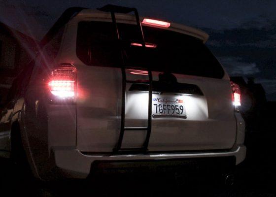 چراغ پلاک خودرو