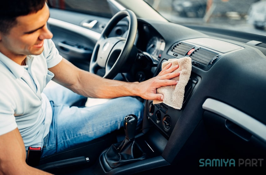 نحوه نظافت داخل خودرو